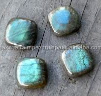 Top AAA Quality Labradorite 11mm Cushion Square Cabochone Loose Gemstone