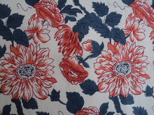 Cotton cambric printed fabric / Floral design printed pattern fabric / Bed-sheets & covers made ups printed fabric