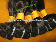 Natural color Indian virgin hair machine wefts