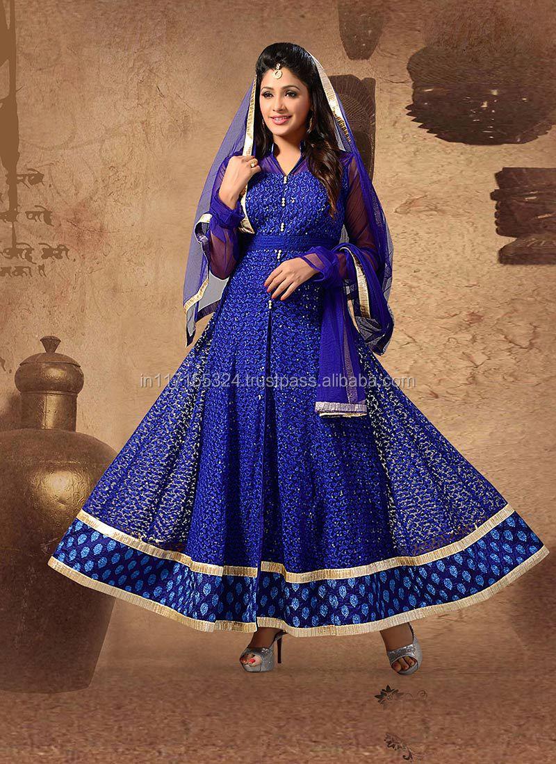Indian Clothing Fancy Fashion Long Anarkali Suits\\buy Women Clothing ...