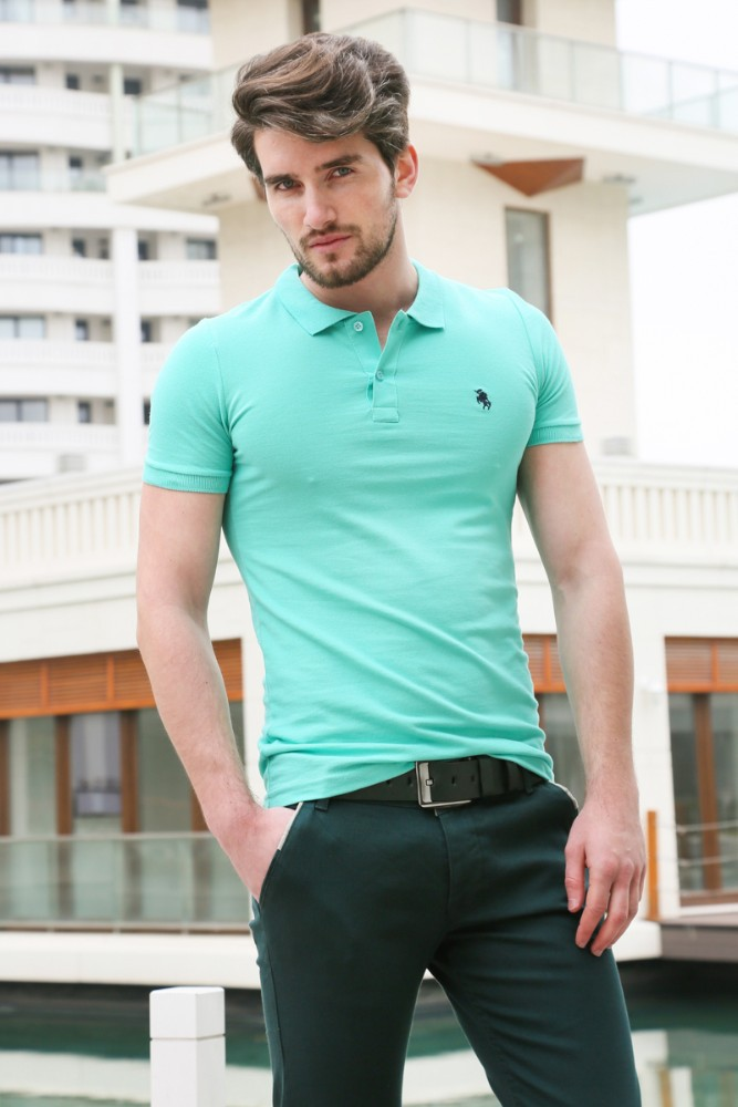 2015 new design fashion style mens polo t shirt made in for Turkey mens designer shirts