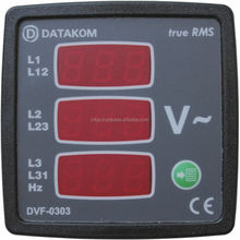 DATAKOM DVF-0303 72x72 digital voltmeter and frequency meter panel (3 Phase)