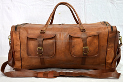 vintage leather messenger brown real hide luggage travel bag genuine briefcase