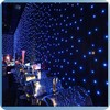china wholesale led burnt orange curtains for concernt/party