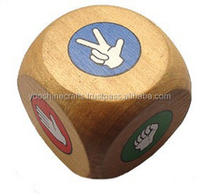 2015 New Wooden colorful Dice, High Quality wooden playing dice, Hot Sale Dice Game,