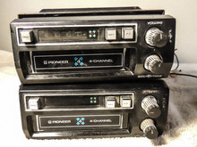 PIONEER 8-TRACK CAR DECK (2) 4-CHANNEL FOUR QP424 MOUNTING BRACKET QUAD STEREO