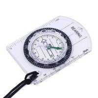 All In 1 Outdoor Hiking Camping Baseplate Compass Map MM INCH Measure Ruler #58585