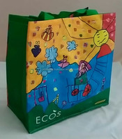 CHEAP price for shopping bag with recycled PP woven, Laminated shopping bag, Vietnam OEM/ODM manufacturer