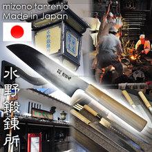 High quality and blacksmith forging Mizuno Tanrenjo Kitchen Knife with hardened-edged