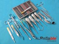 18 PCS PREMIUM BASIC DENTAL SURGERY SURGICAL INSTRUMENTS SET KIT, Extraction instruments, Dental Implant, Endodontics, Periodont
