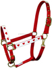 Tough 1 Red & Hearts Nylon Economy Halter Horse Tack Equine
