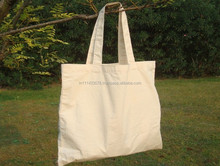 100% Organic Cotton Canvas Tote Bag