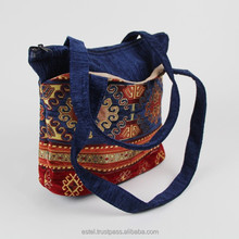 2015 very popular dark blue kilim design hand bag E100053