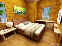 New Good Nice Customized simple Wooden prefabricated house made from brown or reddish Vietnam mixed hardwood