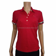 Factory price free custom polyester women polo t-shirt Paypal Accepted