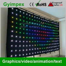 popular design indoor outdoor p18, led curtain, led curtain panel, stage background led video curtain