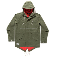 Custom parka style canvas jacket north style jacket