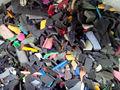 Quadris mistura de cores plástico sucata