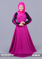 Jubah Lycra with Lace, Mixed Color