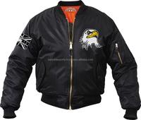 Silk Satin Bomber Jacket / Windproof high quality satin varsity jacket