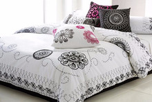 Luxury Bed sheets , printed Bedsheets , Pretty 100% cotton embroidery bed sheet embroidered bed sheet set made in INDIA