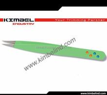 pointed soft touch tweezers/ ingrown hair tweezers