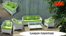 White Garden Poly Rattan Outdoor Furniture