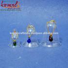 Diy nova moda& blownworking transparente de vidro natal sinos decorativos- custom férias decorativos sinos pendurados