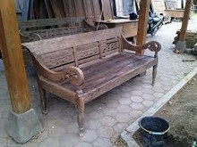 SELL OLD TEAK CARVING BENCH