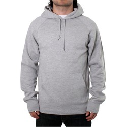 Men's Heather Grey CVC thick fleece hoodie