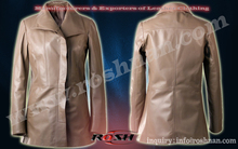 piel de cordero abrigo largo para las niñas