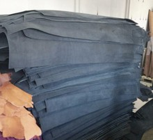 Leather for belts, harness, saddlery in croupons drum dyed
