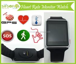 Pedometer watch with wrist pulse sensor, Smart watch with SOS button, Wrist watch Bluetooth, GPS, GSM, SIFWATCH-5.9