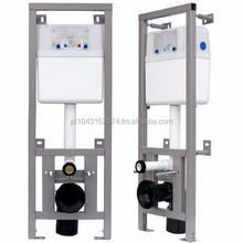 Flush-mounted frame for toilet