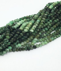 Wholesale Emerald Shaded Micro Faceted Roundell Beads Manufacture & supply Semi Precious Beads