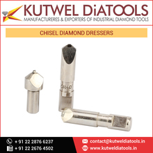 Chisel Type Diamond Dressers with Specially Selected Higher Quality Natural Diamonds