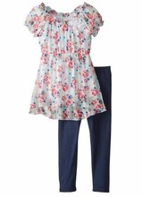 girls tunic with legging / bangladesh children dress manufacturer/ best price guranteed/free sample available