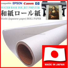 High quality and Durable plotter printing Japanese rice paper, washi for photographic prints, art works
