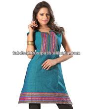 Simples de algodão indiano Kurtis | roupas indianas atacado