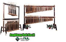 Small Unit Angklung Set Orchestra Bamboo Sundanese Traditional Music Instrument