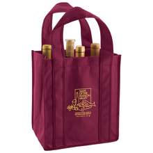 """6 Bottle Wine Tote Bag - fits 6 wine bottles, features 36"""" handles and comes with your logo."""
