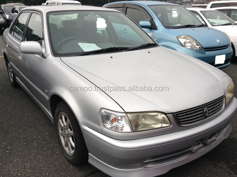 Used cars for toyota corolla 4d gt ae111 exported from japan