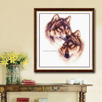 Excellent Quality Beautiful DIY Cross Stitch Kit Embroidery Set Wolf Totem Design 42*45cm For Home Decoration