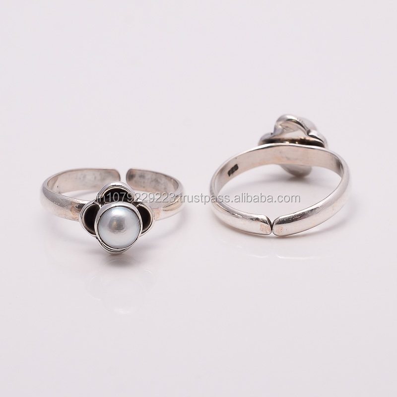 pearl toe ring sterling silver jewelry wholesale wholesale