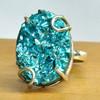 Gorgeous Blue Druzy Gemstone Silver Ring, 925 Sterling Silver Ring, Wholesale Silver Jewelry Online SER4545