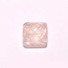 Rose Cut Square Shaped Rose Quartz New Arrivals !!! Lose Gemstone