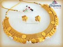 TEMPLE JEWELRY-LAKSHMI COIN JEWELLERY-SOUTH INDIAN BRIDAL JEWELRY-ONE GRAM GOLD JEWELLERY ONLINE