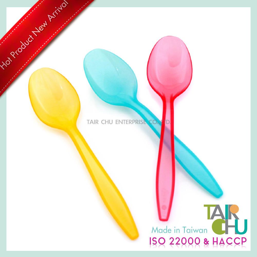 Taiwan 12cm disposable plastic spoon tair chu enterprise for How big is a plastic spoon