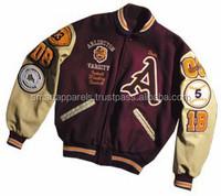 custom patches letterman varsity jackets / varsity jackets genuine leather sleeves