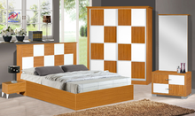 Malaysia Melamine Board Double Bedroom Set